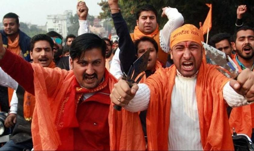 O radicalismo hindu tem levado milhares de cristãos a sofrerem diversos tipos de agressão na Índia. (Foto: Kashmir Observer)