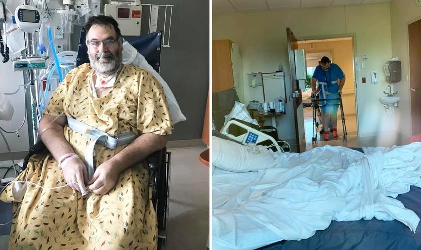 Thomas Carpenter sofreu graves complicações após ser infectado pela Covid-19. (Foto: Facebook/Angelia Carpenter)