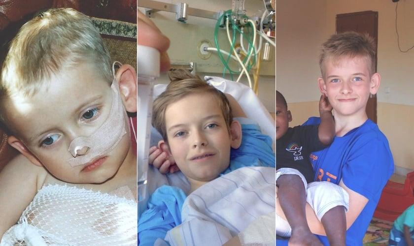 Adrian Nygard ficou gravemente doente por 11 anos. (Foto: Arquivo Pessoal/Montagem do Guiame)