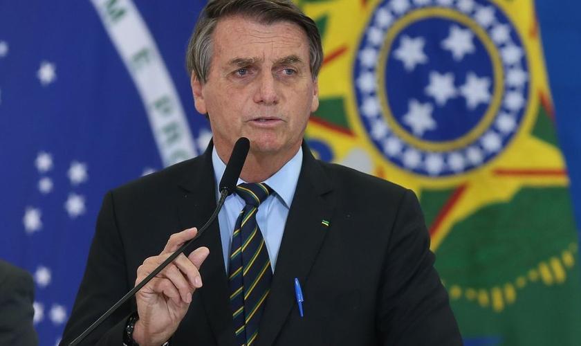 Presidente Jair Bolsonaro durante discurso em Brasília em 25 de março de 2021. (Foto: Fabio Rodrigues Pozzebom/Agência Brasil)