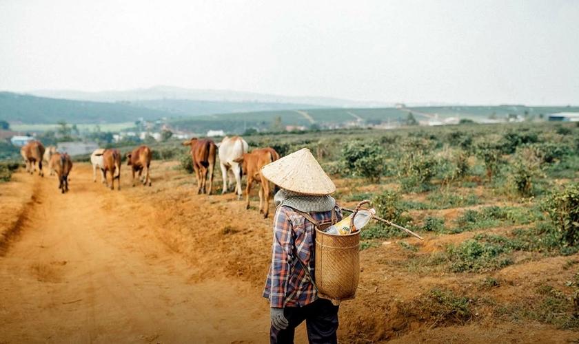 Família vietnamita é expulsa da vila onde vive e perde casa, gado e todos os seus pertences por serem cristãos. (Foto representativa: Portas Abertas)