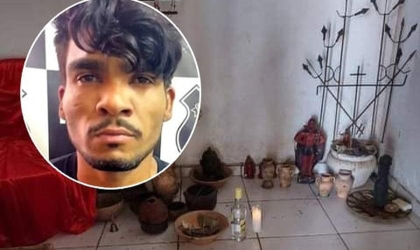Lázaro Barbosa de Sousa foi acusado de matar uma mulher em ritual satânico. (Foto: Montagem/Guiame)