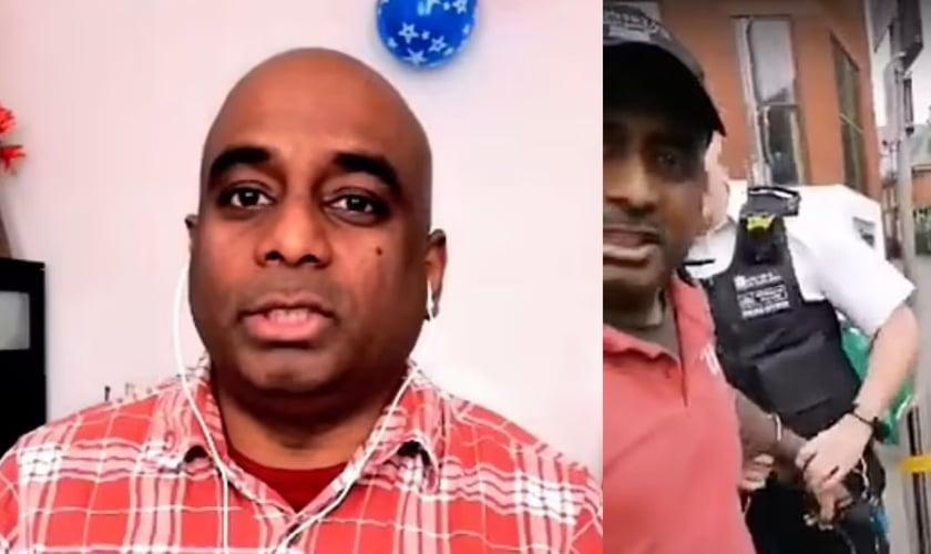 Andrew Sathiyavan conta sobre o momento em que foi preso enquanto pregava o Evangelho. (Foto: Christian Concern Triangle News)