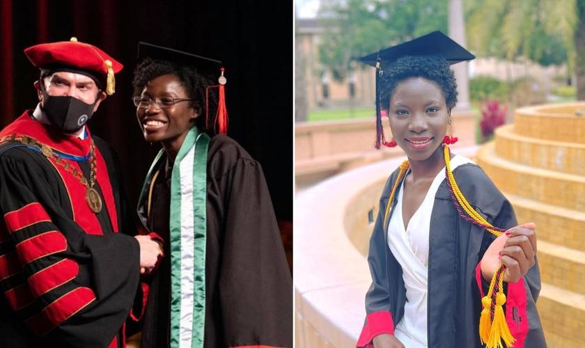 Joy Bishara (esq.) e Lydia Pogu (dir.) se formaram nos EUA. (Foto: Reprodução/Facebook Montagem Guiame)