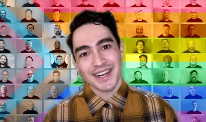 Música do Coral Masculino Gay de São Francisco despertou críticas. (Foto: Reprodução/Twitter)