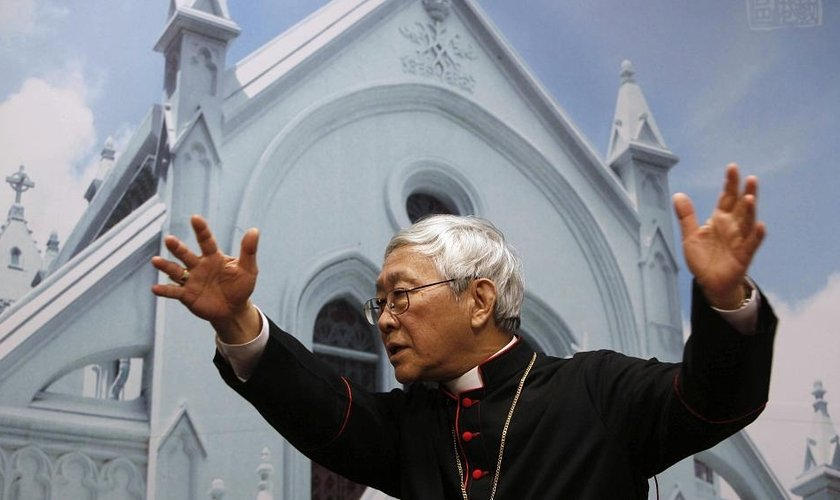 Cardeal Joseph Zen, da Igreja Católica de Hong Kong, em imagem de 2009. (Foto: Kin Cheung/AP)