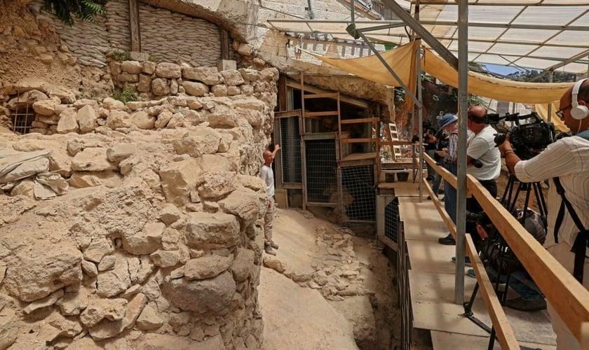 Arqueólogos encontram novas partes da antiga muralha de Jerusalém. (Foto: Emmanuel Dunand/AFP)