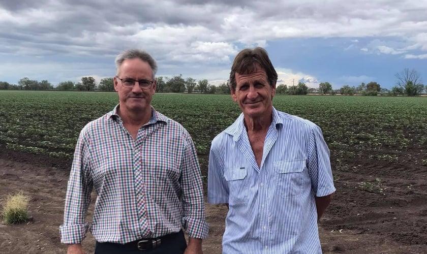 Membro da Agies Ltd: o presidente Andrew McClenaghan (à esquerda) e o tesoureiro James Kahl. (Foto: Jonathan Harris).