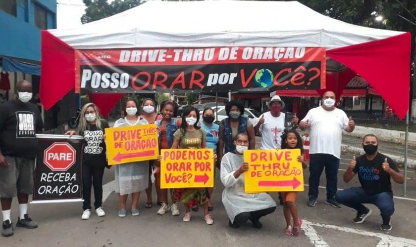 Drive-Thru da Oração em Guapimirim (RJ). (Foto: Divulgação).