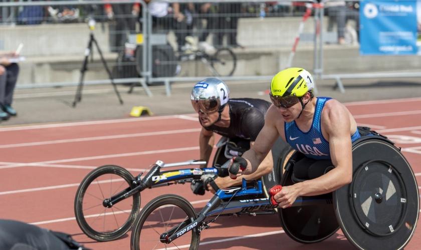 Daniel Romanchuk é detentor do recorde mundial nos 5000m T54 masculinos. (Foto: Urs Sigg and team)