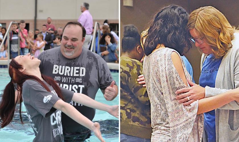 Orações levam a conversões e batismos na Igreja Batista do Nordeste de Houston. (Foto: Reprodução / Facebook)