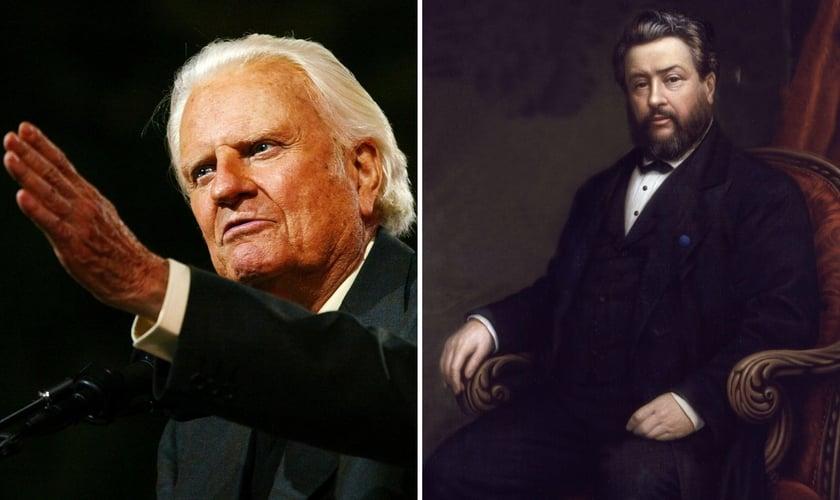 O evangelista Billy Graham e o teólogo Charles Spurgeon. (Foto: Reprodução / IMDB / Wikipedia)