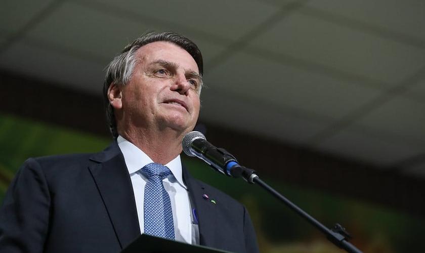 Jair Bolsonaro na cerimônia alusiva ao Centenário da Convenção de Ministros e Igrejas Assembléia de Deus no Pará. (Foto: Isac Nóbrega/PR)