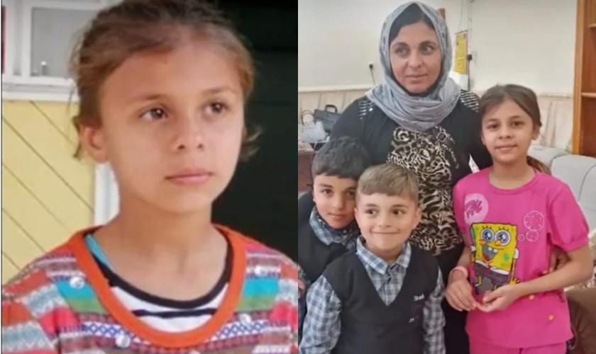 Sonia Khalil Bashar foi sequesrada pelo Estado Islâmico em 2014, com apenas 4 anos. (Foto: Reprodução/The Nazarene Fund).