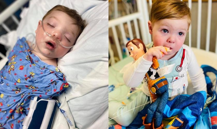 Wyatt Lowe, de apenas 2 anos, nasceu com uma doença cardíaca congênita. (Foto: Reprodução/Facebook).