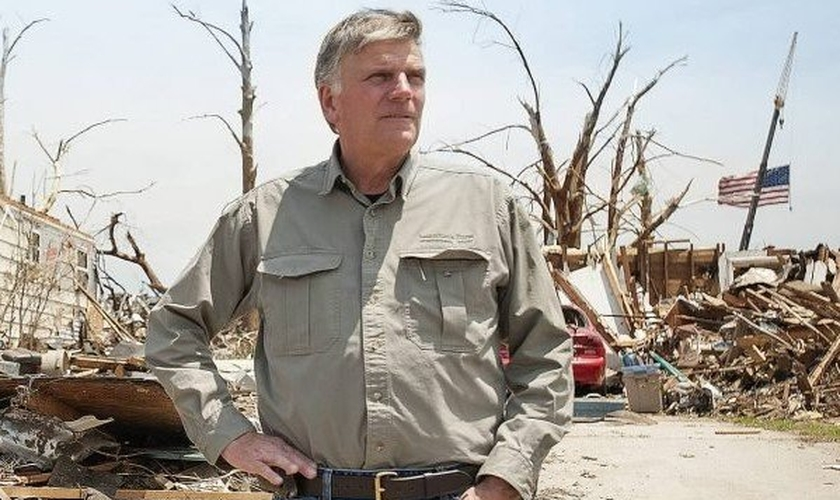 O evangelista afirmou que, diante das catástrofes globais, a Igreja deve continuar pregando o Evangelho. (Foto: Samaritan's Purse).