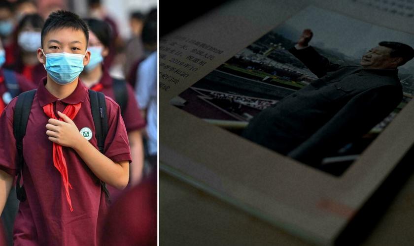 A China introduziu o 'pensamento de Xi Jinping' em novos livros escolares para crianças a partir dos sete anos. (Foto: Noel Celis / AFP)
