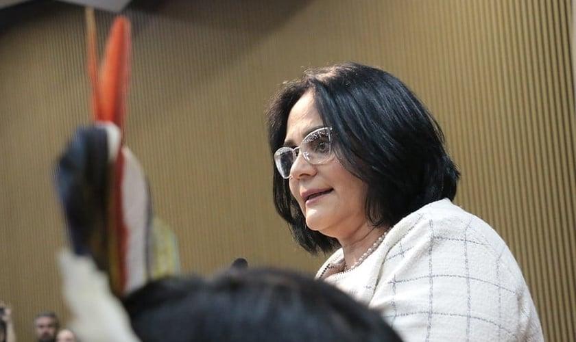 Ministra da Mulher, da Família e dos Direitos Humanos, Damares Alves. (Foto: Luiz Alves/MMFDH)
