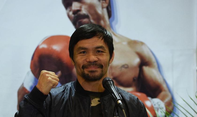 O ícone do boxe filipino Manny Pacquiao irá concorrer à presidência. (Foto: AFP/Ted Aljibe)