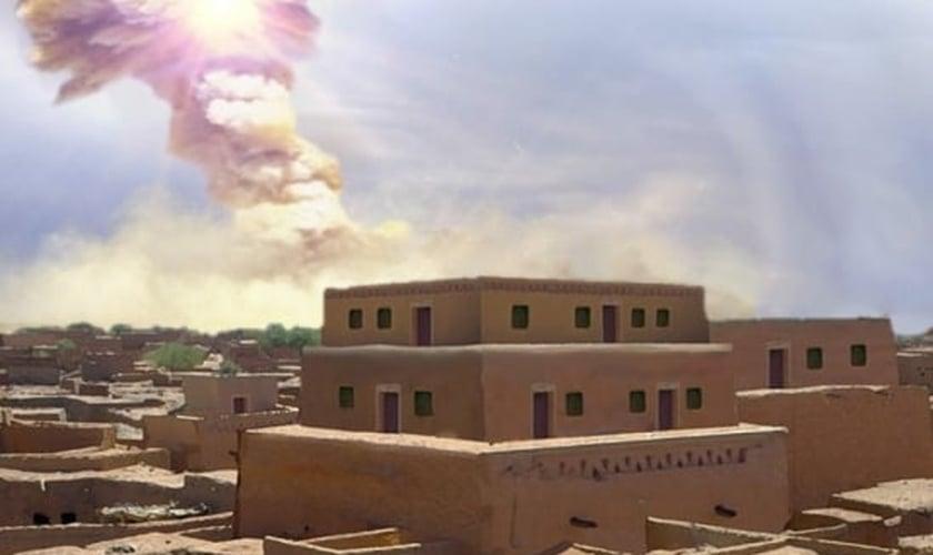Imagem ilustrativa de cidade antiga que foi alvo de bola de fogo. (Foto: UC Santa Barbara)