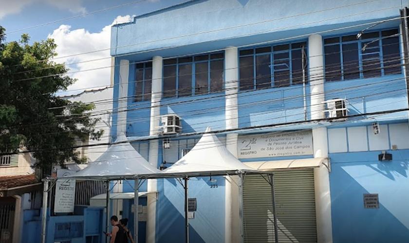 Fachada do 2º Cartório de Registro Civil em São José dos Campos, SP. (Foto: Google Maps)