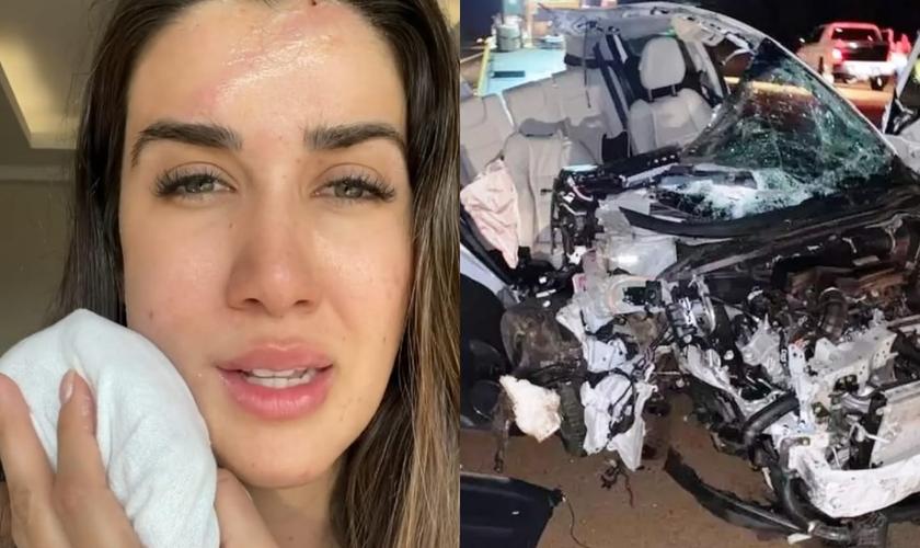 Patrícia Romania, de 32 anos, sofreu apenas ferimentos leves. (Foto: Reprodução/Instagram).