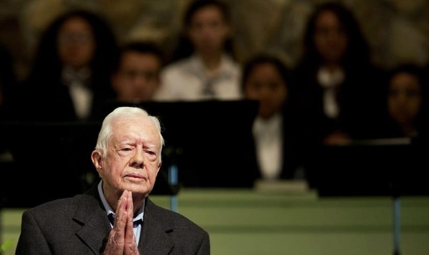 O ex-presidente dos EUA hoje atua como professor de uma Escola Dominical na Igreja Batista. (Foto: Reprodução)