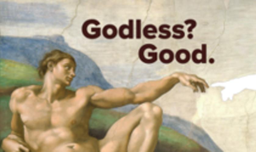 """Os anúncios serão compostos pela famosa pintura """"A Criação de Adão"""", de Michelangelo, mas com Deus apagado."""