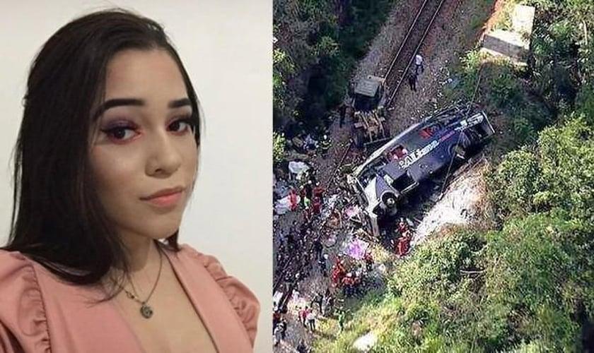 Vitória Cardozo é uma das sobreviventes do acidente com ônibus de Alagoas em Minas Gerais. (Foto: Reprodução/G1)