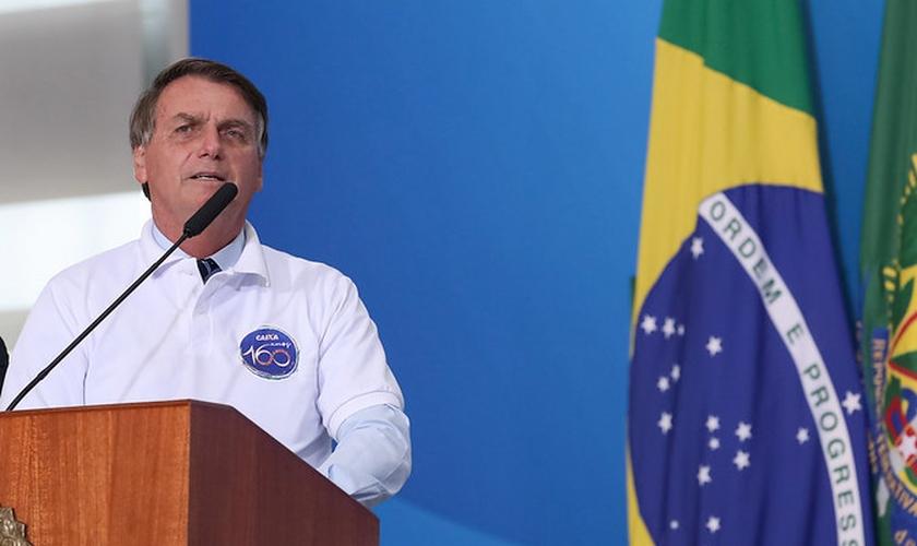 Presidente Jair Bolsonaro durante cerimônia de 160 anos da Caixa Econômica. (Foto: Marcos Corrêa/PR)