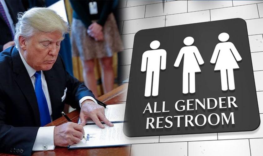 Após cancelar a política de banheiros transgêneros, o governo Trump quer cancelar todas as leis especiais para transgêneros nos EUA. (Foto: TJOBBANK)