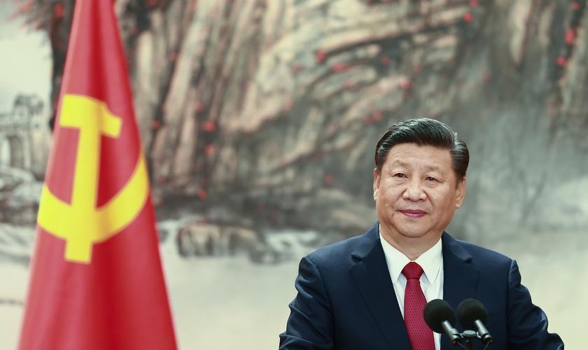 Presidente chinês, Xi Jinping, na inauguração de um comitê do Partido Comunista em Pequim, na China. (Foto: Lintao Zhang/Getty Images)
