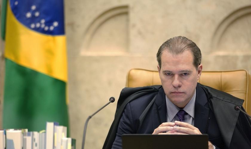 O presidente do STF em sessão, Dias Toffoli, plenária por videoconferência. (Foto: Rosinei Coutinho/SCO/ STF)