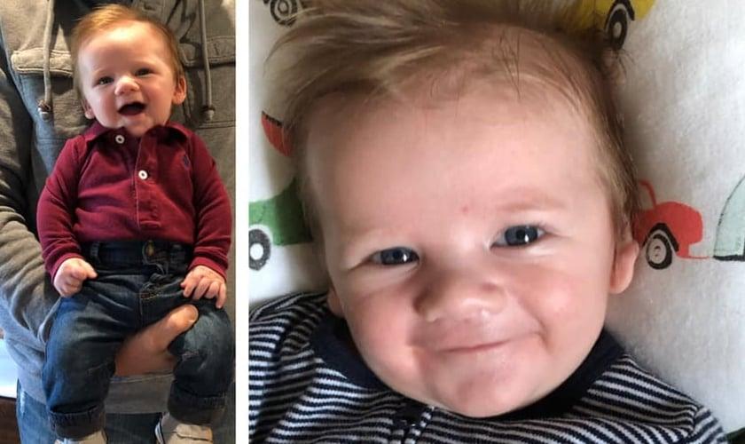 O parto de Kate Mckinney aconteceu em 5 de novembro de 2018 e seu filho nasceu em perfeito estado. (Foto: Reprodução/Facebook)