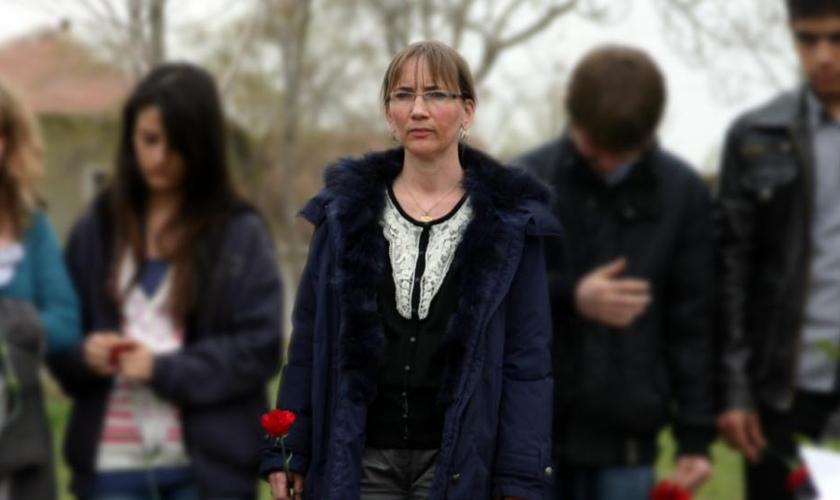 Susanne Geske é viúva domissionário alemão Tilmann Geske,morto na Turquia em abril de 2007. (Foto: Reprodução)