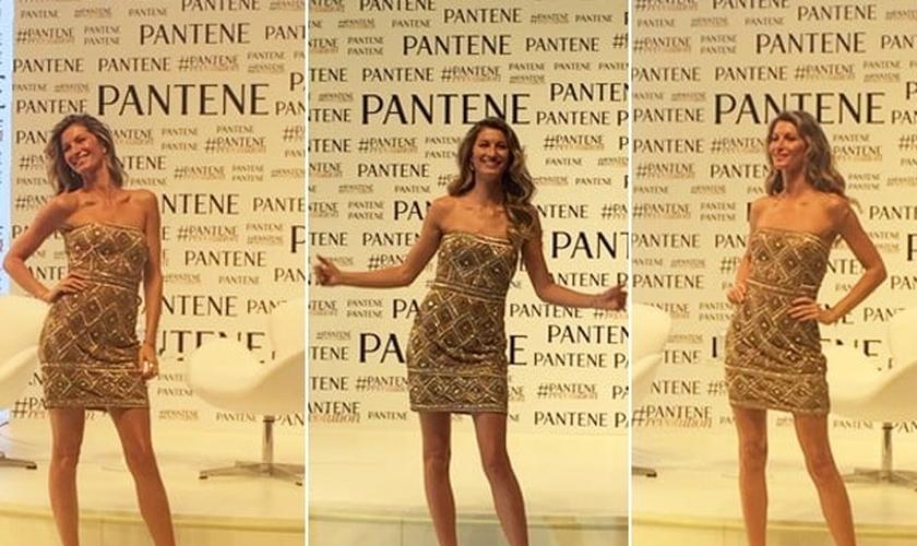 modelo Gisele Bündchen em evento
