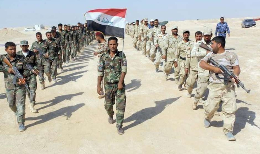 Exército iraquiano e combatentes xiitas unidos