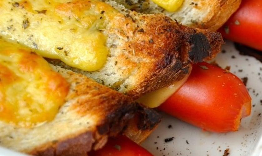 Hot dog de pão de forma