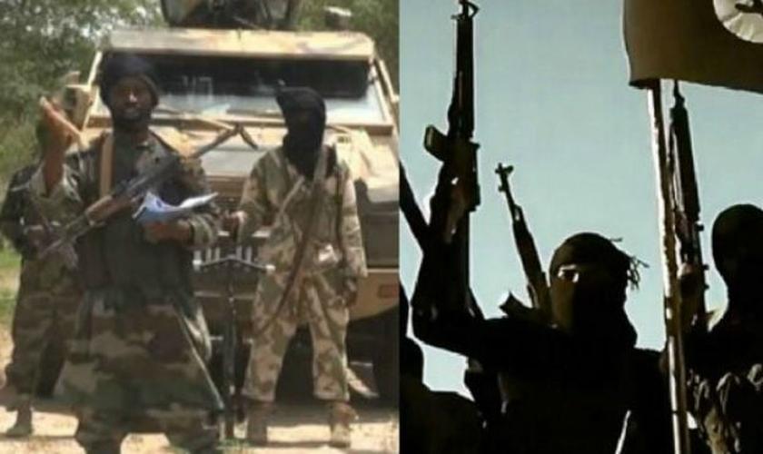 Grupos terroristas islâmicos Boko Haram e Estado Islâmico