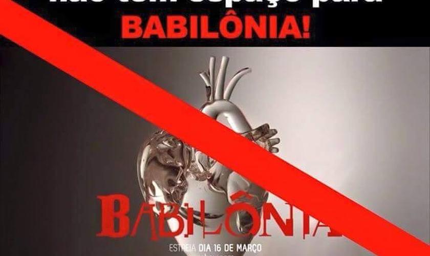 Campanha contra a novela Babilônia no Facebook