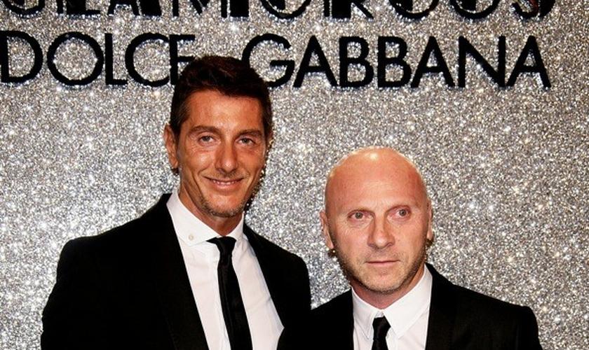 Domenico Dolce e Stefano Gabbana, estilistas da grife Dolce & Gabbana. (Reprodução/ Circuito A)
