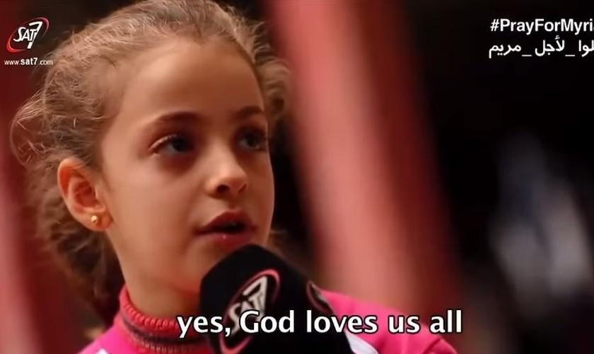 Miriam vive como refugiada no Iraque