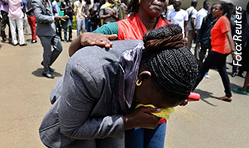 Parente de vítima no ataque no Quênia