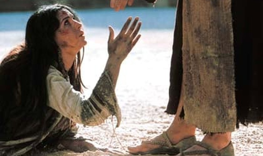 Jesus ajuda mulher _ imagem ilustrativa