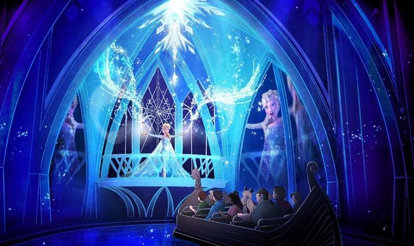 Cenário modelo de Frozen no parque da Disney em Orlando previsto para 2016