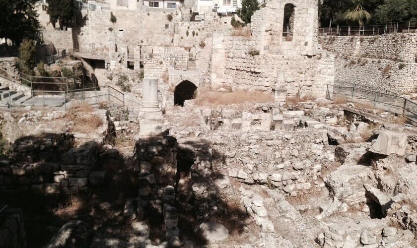 Região do Tanque de Betesda, na zona Norte de Jerusalém, Israel. (Foto: Ap. Joel Engel)