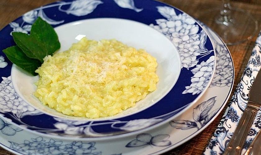 Risoto de queijo parmesão