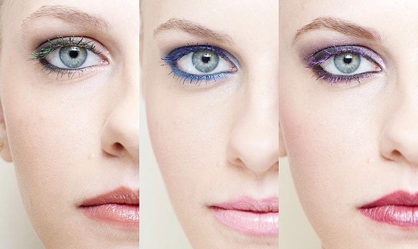 Máscara de cílios colorida