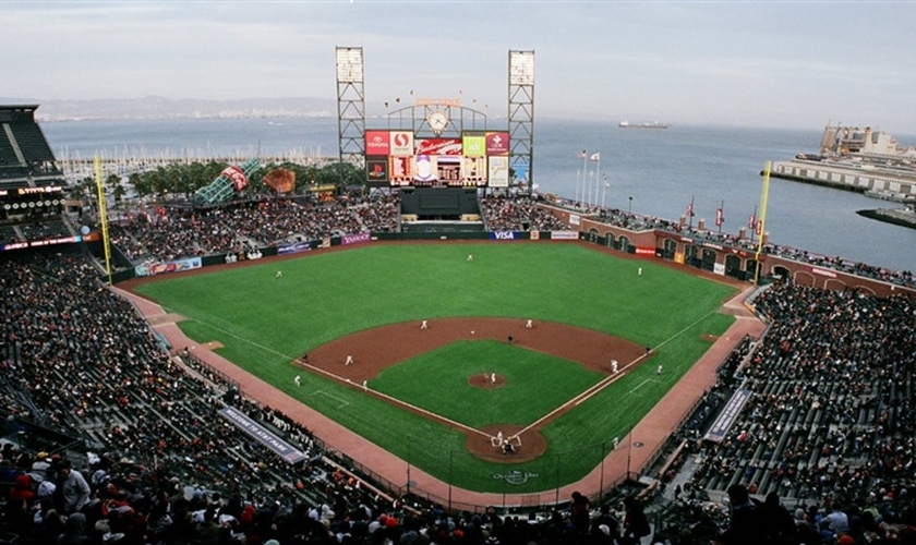 Estádio de jogos de beisebol, em San Francisco