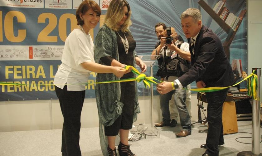 Inauguração oficial da IV FLIC durante Café de Pastores. (Foto: Guiame/Marcos Paulo Corrêa)